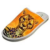Cotton Gloden Wild Leopard Pattern House Slippers Baboosh Chinela Slipper