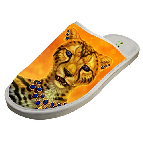 Cotton Gloden Wild Leopard Pattern House Slippers Baboosh Chinela Slipper by 4B854DF6B
