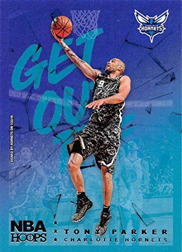 2018-19 NBA Hoops Get Out The Way Retail Insert #10 Tony Parker Charlotte Hornets Official Panini Basketball Card ()