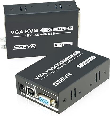 Sgeyr Vga Extender 656ft Vga Kvm Extender 200m über Utp Computer Zubehör