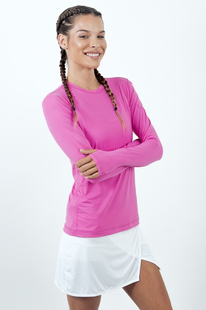 BloqUV Women's 24/7 Athletic Top - Bubblegum Pink-Small-Bubblegum Pink