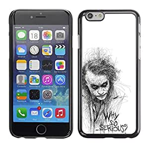 LOVE FOR Apple Iphone 6 Plus 5.5 Why So Serious Sketch Movie Character Personalized Design Custom DIY Case Cover