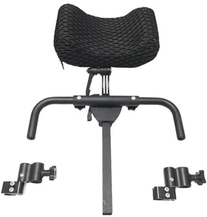 AA-SS- Neck Support Reposacabezas para sillas de Ruedas Sillas de Ruedas eléctricas Almohada Aleación de Aluminio Fácil de Instalar/Reposacabezas Rango Ajustable 350Mm-500Mm, Negro