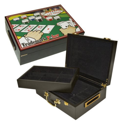 Trademark Poker 500 Chip Poker Case with Full Color Graphics by Trademark Poker