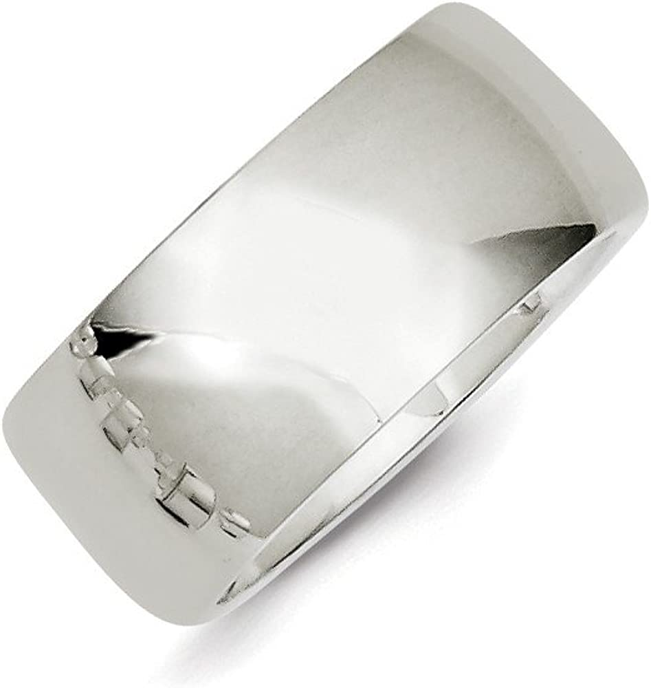 Jewel Tie 925 Sterling Silver 10mm Comfort Fit Size 9 Wedding Band