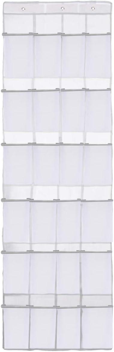 Shoe Organizer Over the Door 24 Pockets Shoe storage for Bedroom Door Hanging Shoe Rack Bathroom Closet Storage #white