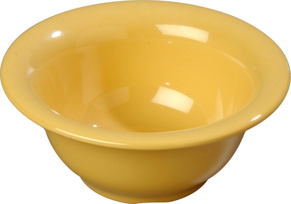 Carlisle 4303822 Durus Rimmed Melamine Nappie Bowl, 10 Oz., Honey Yellow (Pack of 24)