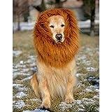 Bonawen Yellow Halloween Costumes for Dogs Large,Pet Lion Mane