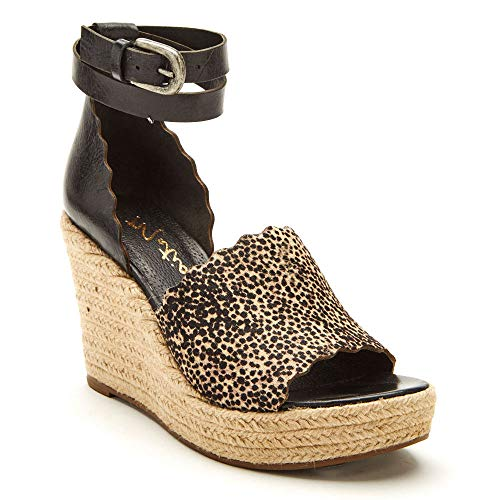 Matisse Women's Roma Espadrille Sandal Black Spots 10 M US