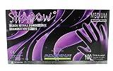 Adenna SHD935 Shadow Nitrile PF Exam Gloves, Medium, 100 Count (Pack of 10)