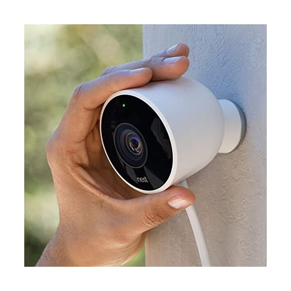 Nest Cam Outdoor Security Camera 2 pack, Works with Amazon Alexa