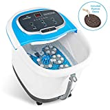 LiveFine Foot Spa Massager - Heated Bath, Automatic Massage Rollers, Rain Shower, Pumice