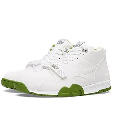 NIKE Mens Air Trainer 1 Mid SP/Fragment White/chlorophyll Green Leather  Size 9