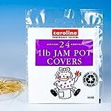 24 x Jam Pot Covers - Pack Size 1lb