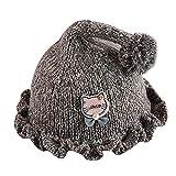 Anglewolf Newborn Baby Girls Boys Cartoon Cat Knitting Headgear Warm Kids Hat Cap Rabbit Hats Infant Toddler Caps For Cotton Cute Peaked Windproof Headwear Gift Wool Winter Beanie(Coffee,)