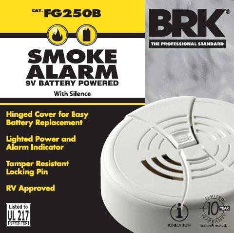 First Alert fg250b Dual de ionización de humos con 9 V) batería (6 unidades): Amazon.es: Bricolaje y herramientas