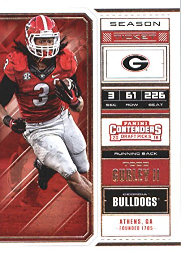 - 2018 Panini Contenders Draft Picks Season Ticket #93 Todd Gurley II Georgia Bulldogs Football Card