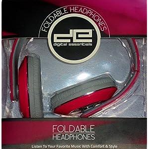 Digital Essentials Foldable Headphones PINK 105dB 20Hz-20,000Hz Beats Studio Comparable Quality