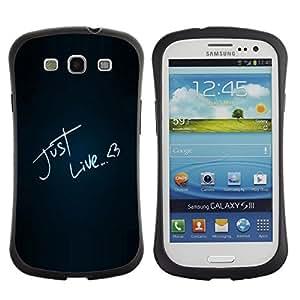 """Hypernova Slim Fit Dual Barniz Protector Caso Case Funda Para SAMSUNG Galaxy S3 III / i9300 / i747 [Divertido igual que el amor""""]"""