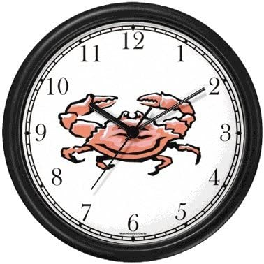 Crab Animal Wall Clock by WatchBuddy Timepieces White Frame