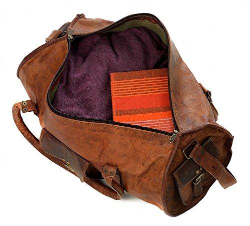 Grand sac fourre-tout en cuir Marron