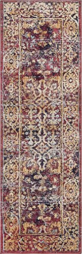 (Unique Loom Augustus Collection Boho Traditional Vintage Rust Red Runner Rug (2' 2 x 6' 7) )