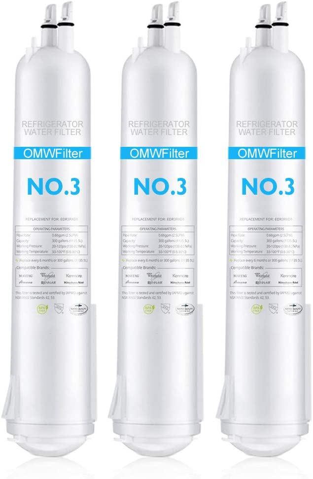 Drop-3 Refrigerator Water Filter 3 Compatible with Kenmore 46-9083 46-9030 T1RFKB1 CAP T2RFWG2 46-9020 and Other Brands Models (3PCS)