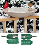 API 650 Deck Mounted Heated Bird Bath with Outdoor Cord Connector