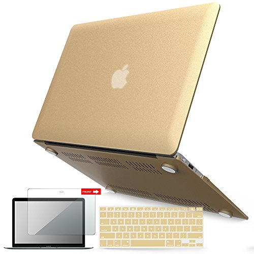 Notebook Screen Cover - iBenzer Basic Soft-Touch Series Plastic Hard Case, Keyboard Cover, Screen Protector for Apple MacBook Air 13-inch 13