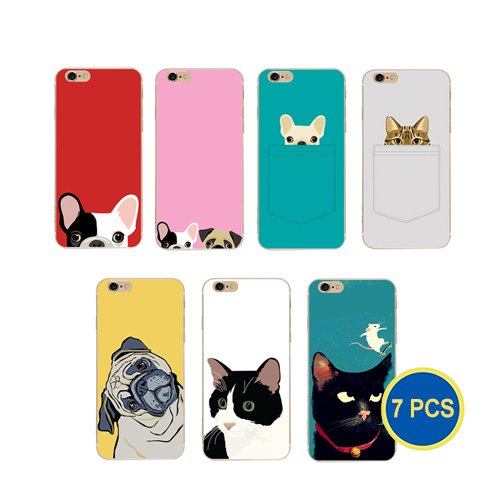 gadgetcool-wholesale-pack-of-7-ultra-slim-animal-cat-dog-picture-cases-for-iphone-6-iphone-6s-7-dogs