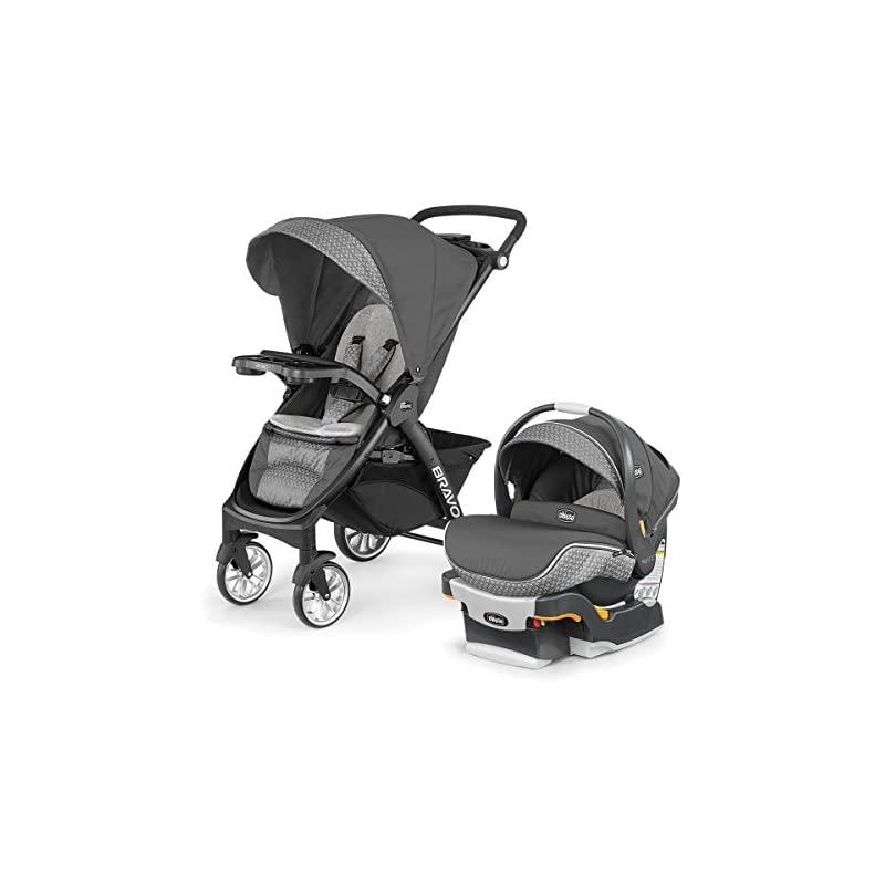 Chicco Bravo LE Trio Travel System Stroller w// KeyFit 30 Zip Car Seat Silhouette