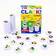 Amigo Games AMI18002 CLACK! Kids Magnetic Stacking Game with 36 Magnets