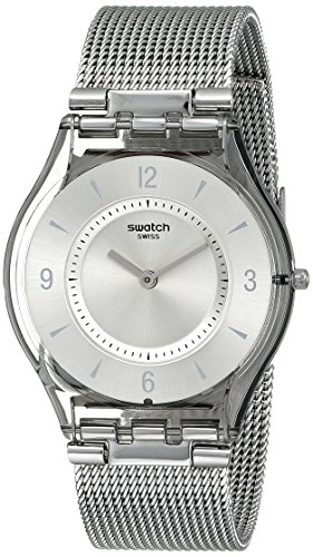 Swatch Women s SFM118M Quartz Stainless Steel Silver Dial Casual Watch