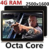 9.7 inch 8 core Octa Cores 2560X1600 IPS DDR 4GB ram 64GB 8.0MP 3G Dual sim card Wcdma+GSM Tablet PC Tablets PCS Android5.1(Black)