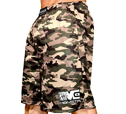 Monsta Clothing Co. Men's MC-Full-Camo-(SRT-244) Shorts Medium Tan