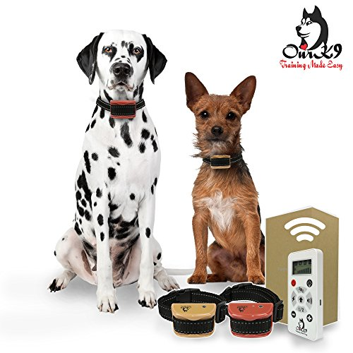 Our K9 Training Made Easy - Small - Medium Dog Remote Training Collars - Sound, Vibration, Shock - 800 Yards - 2 Dogs
