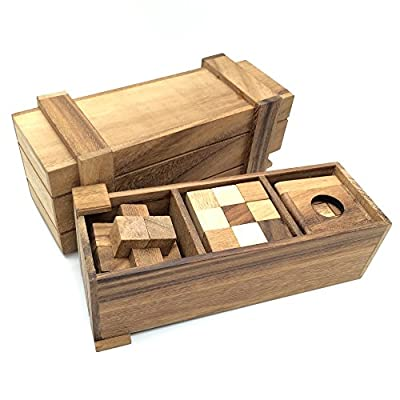 BRAIN GAMES Pandora Wooden Puzzle Box