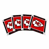 NFL Kansas City Chiefs Ceramic Coasters-Pack of 4, Red