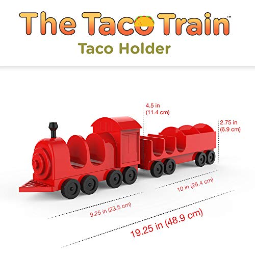 Taco Train Taco Party Holder Stand - Holds 5 Tacos and Salsa - The Ultimate Gift for Kids and Adults for Fun Taco Tuesdays - Perfect for Taco Twosday Kids Birthday Party - By Fyve Global by Fyve Global (Image #2)