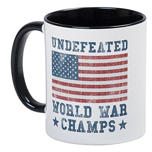 92b98c14 CafePress Undefeated World War Champs Mug Unique Coffee Mug, Coffee Cup