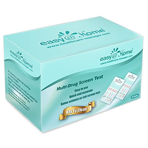10 Pack Easy@Home 6 Panel Instant Drug Test Kits - Testing Marijuana (THC), Amphetamine(AMP), Benzodiazepines(BZO), Cocaine(COC), Opiates(OPI 2000), Methamphetamine(MET/mAMP)-#EDOAP-264 (Best Otc Drug Test)