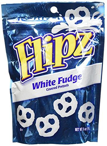Chocolate Coated Pretzels - Flipz White Fudge Pretzels, 5oz (Pack of 1)