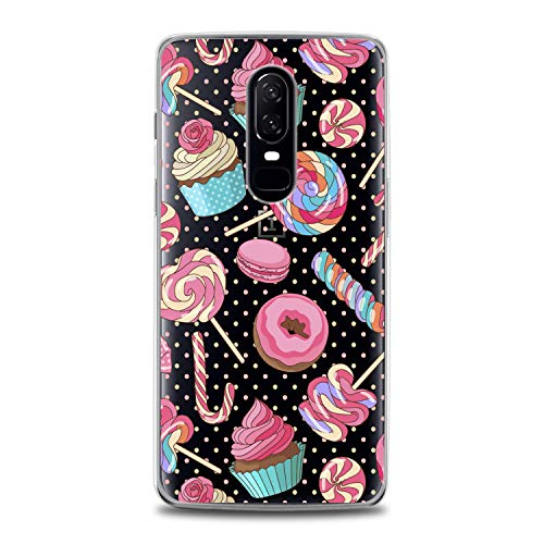 Lex Altern TPU Case for OnePlus 7 Pro 6T 6 2019 5T 5 2017 One+ 3 1+ Cute Clear Colorful Macaron Silicone Cookies Sweet Cover Kawaii Print Lady Protective Flexible Pattern Girls Women Kids Present]()