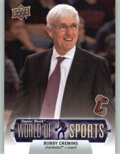 Charleston Cougars Baseball - 2011 Upper Deck World of Sports Baseball Trading Card #66 Bobby Cremins - Charleston Cougars (Basketball Coach)