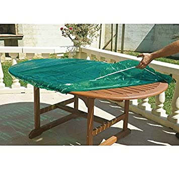 Maillesac JP0271 Housse pour Plateau de Table Ronde Plastique Vert ...