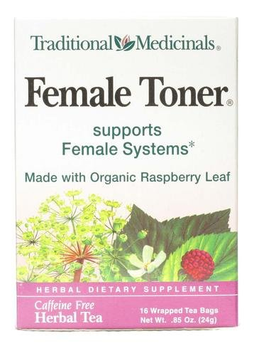 Traditional Medicinals Organic Healthy Cycle Raspberry leaf caffeine Free Herbal Tea 16 Ea 0.85 oz ()