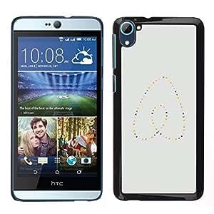 EJOY---Cubierta de la caja de protección para la piel dura ** HTC Desire D826 ** --Perlas del corazón del oro azul minimalista