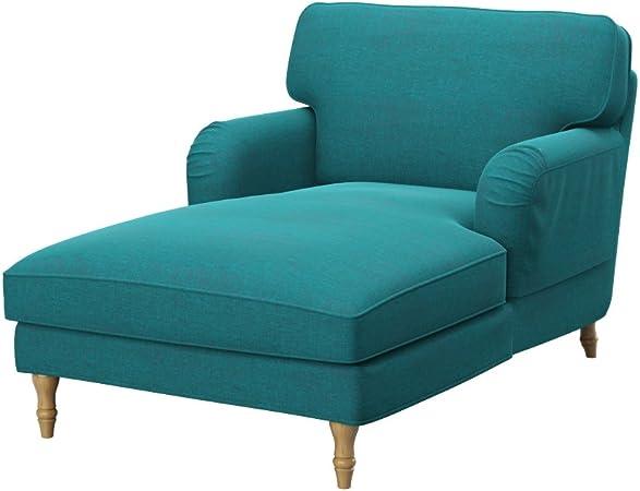 Soferia - IKEA STOCKSUND Funda para chaiselongue, Classic Blue ...