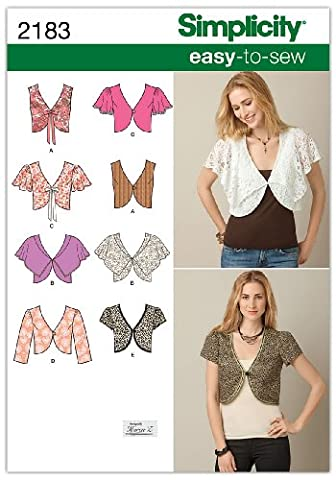 Simplicity Sewing Pattern 2183: Misses' Easy To Sew Vest Or Jacket, Size U5 (16-18-20-22-24)