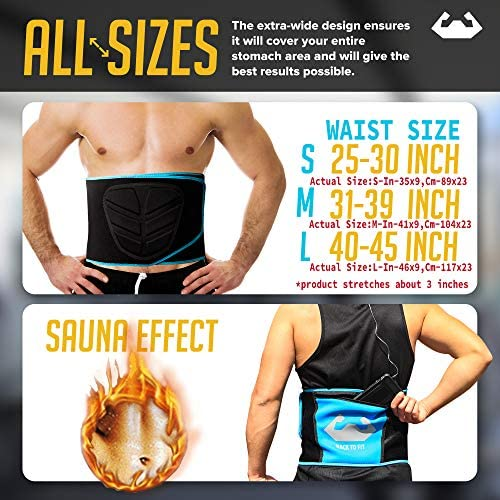Back To Fit Waist Trimmer for Men and Women for Workout and Sweat ABS 3